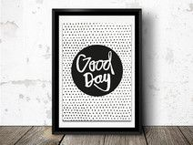 Spruch Poster - Handlettering – Good Day