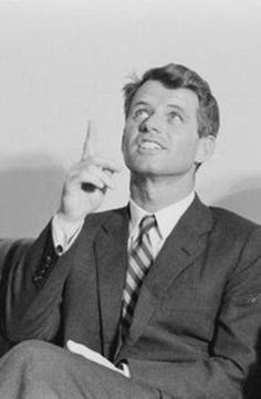"""Robert Francis Kennedy (November 20, 1925 – June 6, 1968), commonly known as """"Bobby"""" or by his initials RFK, was an American politician, who served as a Senator for New York from 1965 until his assassination in 1968. He was previously the 64th U.S. Attorney General from 1961 to 1964,  ❤❤❤  http://en.wikipedia.org/wiki/Robert_F._Kennedy"""