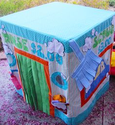 Card Table Playhouse Pattern Car Wash