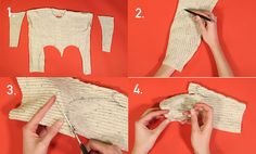 GET THRIFTY THIS HOLIDAY SEASON UPCYCLE AN OLD SWEATER TO CREATE 3 GREAT GIFTS