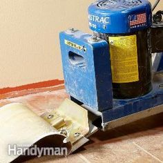 Vinyl Flooring: Removal Made Easy --- making plans to stain that concrete. :)