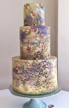 Unique Wedding Cake Designs: The Chicest and Most Modern Ideas - Beautiful Cakes - Cake Design Unique Wedding Cakes, Beautiful Wedding Cakes, Gorgeous Cakes, Wedding Cake Designs, Pretty Cakes, Unique Weddings, Amazing Cakes, Rustic Wedding, Unique Cakes