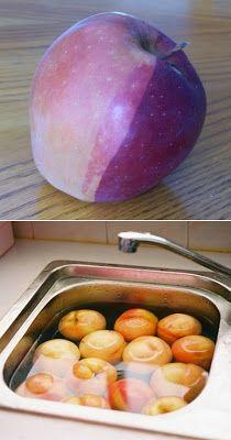 Como limpiar pesticidas de frutas y verduras /How to clean pesticides off fruits and vegetables