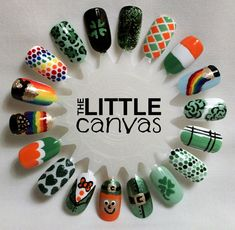 St. Patricks Day Nail Art Wheel - The Little Canvas