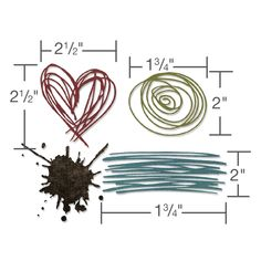 Sizzix - Tim Holtz - Alterations Collection - Thinlits Die - Scribbles and Splat $20