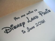 Personalised You are going to Disney Land Paris Congratulations Birthday Card £2.50