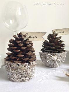 pigne- segnaposto natalizio- chrismas decoration