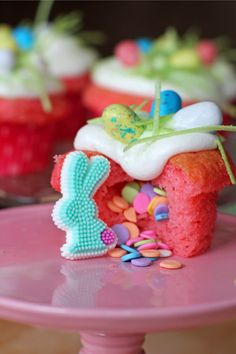 Recipe;  Easter Surprise Cupcakes