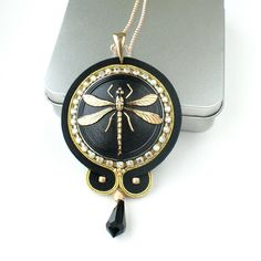 Pendant with dragonfly by MoniqJewelry on Etsy