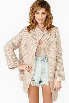 Jocelyn Knit Jacket - Nude