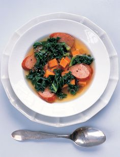 #Recipe: Sweet Potato, Kielbasa and Kale Soup.