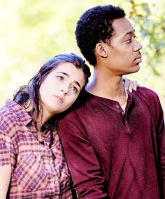 The walking dead season 5. Alanna and Tyler behind the scenes