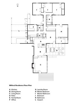 example of children's realm, couple's realm, light on 2 sides: Milford Residence Floor Plan in Portland, Oregon