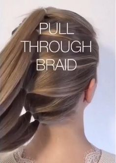 Easy Hairstyles For Long Hair, Braids For Long Hair, Cute Hairstyles, Wedding Hairstyles, Engagement Hairstyles, Curly Hair, Easy Hair Braids, Soccer Hairstyles, Braided Mohawk Hairstyles