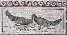 Roman Mosaic. Birds. Museo Nazionale, Rome, Italy.