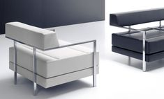 NOTI armchairs | IGLO collection | design by Jerzy Langier | stainless steel | office | reception | elegant | modern