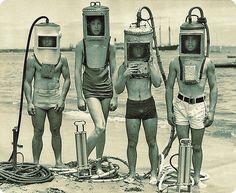 DIY dive helmets - I think not.