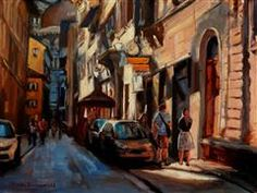 Discover Original Art for Sale Online at UGallery | Alley Near the Duomo oil painting by Jonelle Summerfield