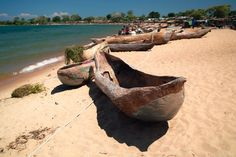Special type of canoes for Lake Malawi.