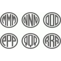 Silhouette Design Store: ellipse monogram m-r