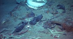 A number of pairs of boots were found near a coat and some other items in the sea bed