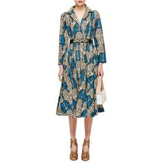 Nectarine Embellished Hand-Painted Dress ($875) ❤ liked on Polyvore