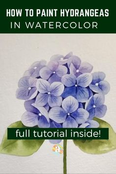 Flower Art Drawing, Flower Drawing Tutorials, Painting Tutorials, Watercolor Paintings For Beginners, Watercolor Art Lessons, Beginning Watercolor Tutorials, Watercolor Art Paintings, Flower Paintings, Watercolor Artists