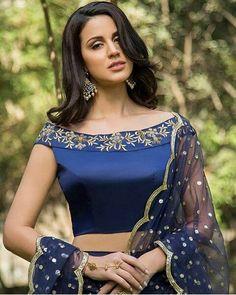 76411ed219 Beautiful blouse design - The Handmade Crafts Off Shoulder Saree Blouse,  Off Shoulder Lehenga,