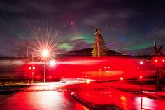 """All aboard the """"Aurora Train,"""" Vancouver. Vancouver, Light Images, Train Travel, Photos, Pictures, Screen Shot, Aurora, Northern Lights, Fair Grounds"""