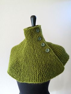 Grass Apple Green Light Olive Color Knitted by KnitsomeStudio