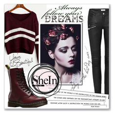 """""""Shein"""" by azradzana ❤ liked on Polyvore featuring Dr. Martens and LIST"""