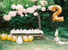 Feminine pink 2nd birthday garden party