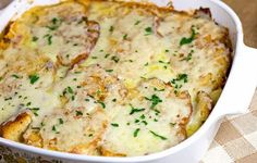 Creamy Onion Swiss Cheese Casserole | AllFreeCasseroleRecipes.com