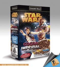 """""""Cocoa Imperial"""" Cereales #StarWars #OmarEzra #AmoCasaDeIdeas #DiseñoGrafico #Empaques"""