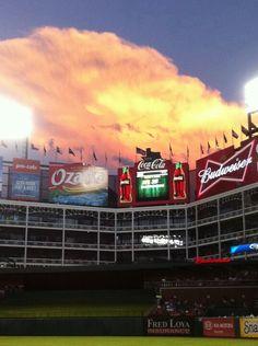 Beautiful Cloud over Texas Ranger Ballpark