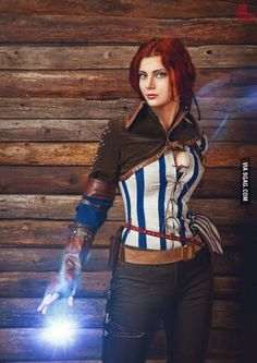 Triss Merigold costume cosplay the witcher hunt sorceress witch charmer character of Maribor andrzej sapkowski adult female for women Video Game Cosplay, Epic Cosplay, Amazing Cosplay, Cosplay Girls, Cosplay Costumes, Female Cosplay, Triss Cosplay, Triss Merigold Cosplay, The Witcher