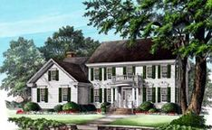 Colonial House Plan 86249 Elevation