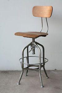gunmetal industrial bar stool…