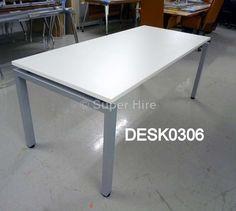 Superhire - White desk White Desks, Lab, Dining Table, Furniture, Home Decor, Decoration Home, Room Decor, Dinner Table, Labs