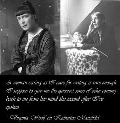 Katherine Mansfield and Virginia Woolf had a very special literary relationship. Famous Women, Famous People, Virgina Woolf, Katherine Mansfield, Bloomsbury Group, Facing The Sun, Her Brother, Bibliophile, Matilda