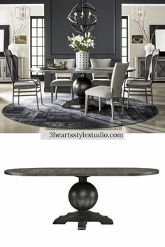 Rustic Industrial Farmhouse Dining Table   3 Hearts Style Furniture  Collection Denver, Colorado