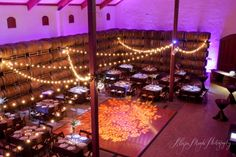 We love doing event lighting because it's a great way to customize a venue. Here's some of the lighting work we've done at Cellar360 Paso Robles.