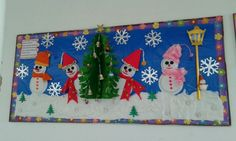 Winter bulletin board made by me