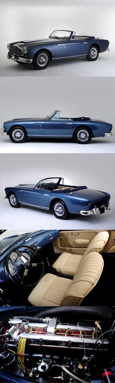 1953 Aston Martin DB2/4 Bertone Drop Head Coupe / Giovanni Michelotti / 2nd of 2 produced / blue / Italy UK
