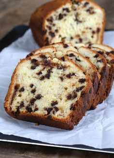 Chocolate Chip Yogurt Gluten Free Quick Bread. I'll use arrowroot instead of cornstarch & coconut sugar instead of white sugar. :P