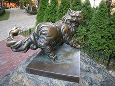 Monumento a Panteleimon . Kiev, Ucrania. AdictaMente: Curiosos monumentos a los gatos, alrededor del mundo.