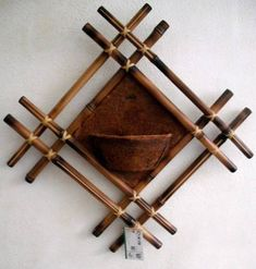 DIY bamboo wall decor ideas - 2 craft projects with bamboo sticks