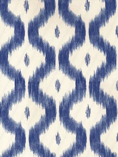 Benoit Ikat - China Blue - Wallpaper | Charles Faudree Wallcovering | AmericanBlinds.com