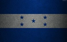 Download wallpapers Flag of Honduras, 4k, leather texture, North America, Honduras flag, flags of the world, Honduras