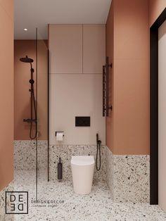 DE&DE/Apart hotel in the heart of Saint-Petersburg on Behance Modern Bathroom Design, Bathroom Interior Design, Bathroom Renos, Small Bathroom, Interior Design Photography, Toilet Design, Terrazzo, Bathroom Inspiration, Home Renovation